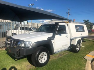 2012 Nissan Patrol MY11 Upgrade DX (4x4) White 5 Speed Manual Leaf Cab Chassis.