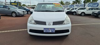 2008 Nissan Tiida C11 MY07 ST White 4 Speed Automatic Sedan.