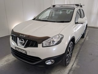 2013 Nissan Dualis J107 Series 4 MY13 +2 Hatch X-tronic 2WD Ti-L White 6 Speed Constant Variable.