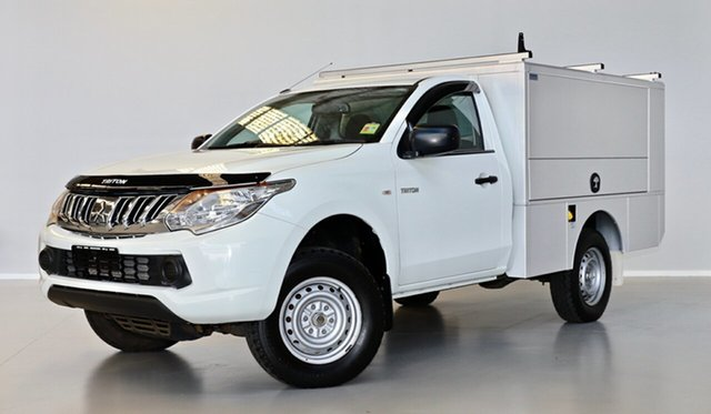 Used Mitsubishi Triton MQ MY16 GLX 4x2 Thomastown, 2015 Mitsubishi Triton MQ MY16 GLX 4x2 White 6 Speed Manual Cab Chassis