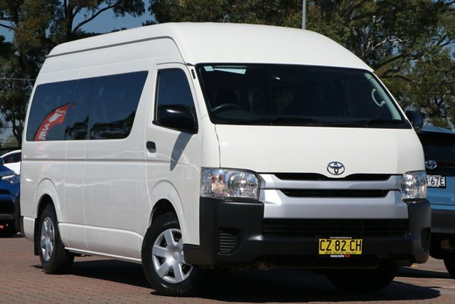 Pre-Owned Toyota HiAce KDH223R Commuter High Roof Super LWB Warwick Farm, 2017 Toyota HiAce KDH223R Commuter High Roof Super LWB White 4 Speed Automatic Bus