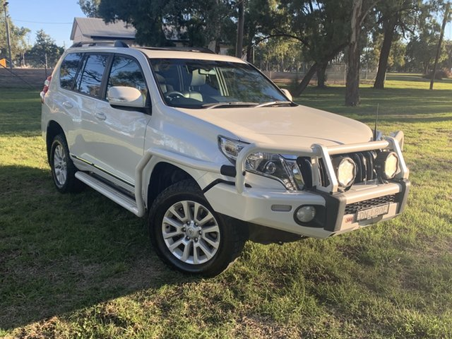 Used Toyota Landcruiser Prado GDJ150R Altitude Moree, 2017 Toyota Landcruiser Prado GDJ150R Altitude Crystal Pearl 6 Speed Sports Automatic Wagon