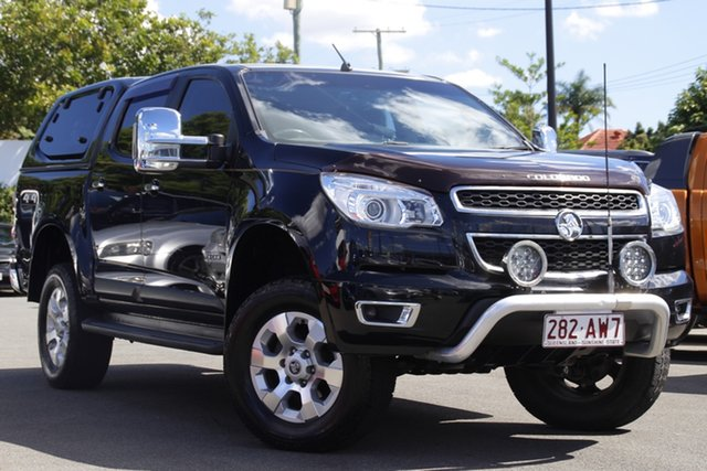 Used Holden Colorado RG MY13 LTZ Crew Cab 4x2 Mount Gravatt, 2012 Holden Colorado RG MY13 LTZ Crew Cab 4x2 Black 6 Speed Sports Automatic Utility