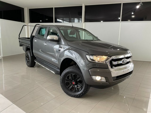 Used Ford Ranger PX MkII 2018.00MY XLT Double Cab Deer Park, 2018 Ford Ranger PX MkII 2018.00MY XLT Double Cab Grey 6 Speed Sports Automatic Utility