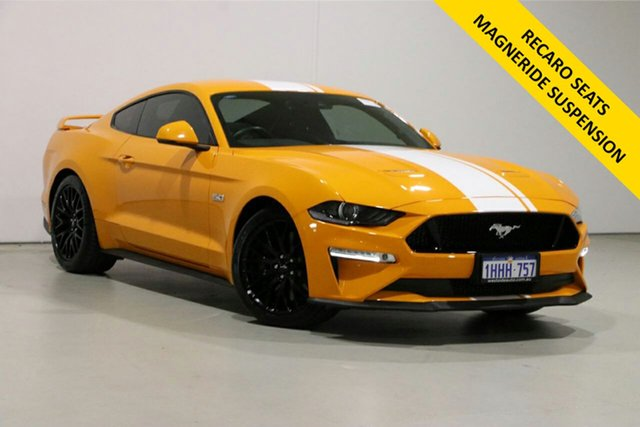 Used Ford Mustang FN Fastback GT 5.0 V8 Bentley, 2018 Ford Mustang FN Fastback GT 5.0 V8 Orange 10 Speed Automatic Coupe
