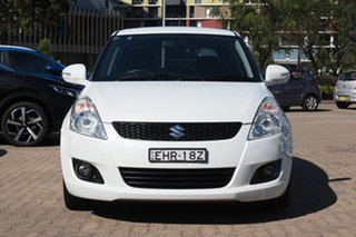 2013 Suzuki Swift FZ GLX White 5 Speed Manual Hatchback