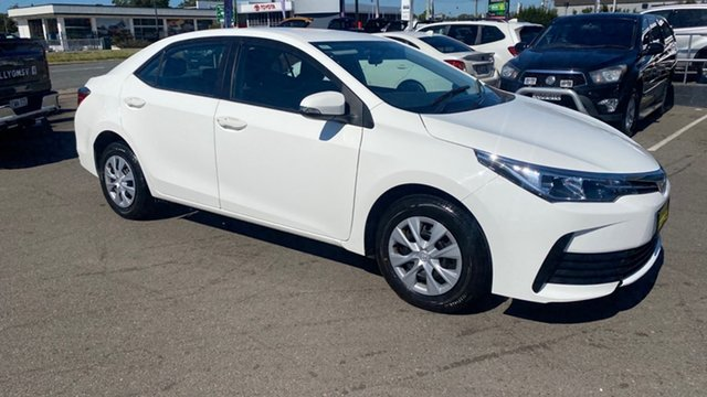 Used Toyota Corolla ZRE172R Ascent S-CVT Cardiff, 2017 Toyota Corolla ZRE172R Ascent S-CVT White 7 Speed Constant Variable Sedan