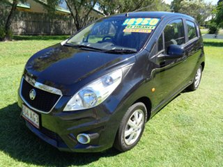 2010 Holden Barina Spark MJ MY11 CD Black 5 Speed Manual Hatchback.