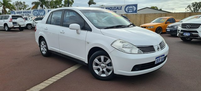 Used Nissan Tiida C11 MY07 ST East Bunbury, 2008 Nissan Tiida C11 MY07 ST White 4 Speed Automatic Sedan