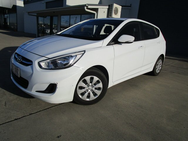 Used Hyundai Accent RB3 MY16 Active Caboolture, 2016 Hyundai Accent RB3 MY16 Active White 6 Speed Constant Variable Hatchback