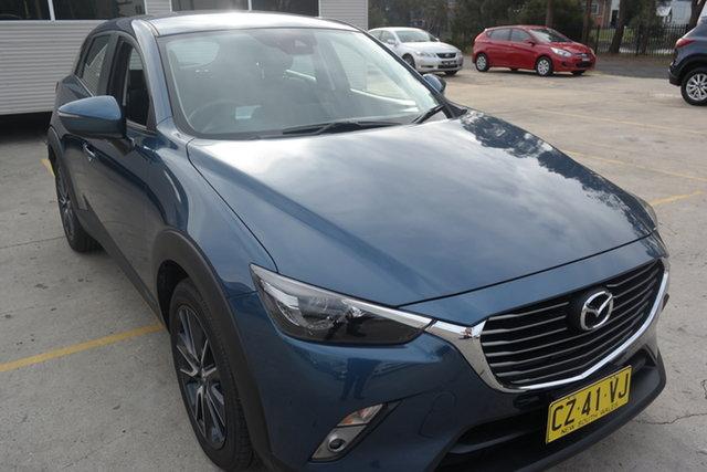 Used Mazda CX-3 DK4W7A sTouring SKYACTIV-Drive i-ACTIV AWD Maryville, 2017 Mazda CX-3 DK4W7A sTouring SKYACTIV-Drive i-ACTIV AWD Blue 6 Speed Sports Automatic Wagon