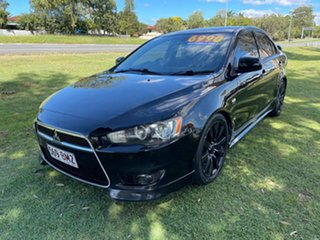 2009 Mitsubishi Lancer CJ MY09 VR-X Black 6 Speed Constant Variable Sedan.