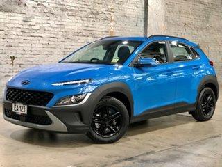 2020 Hyundai Kona Os.v4 MY21 2WD Blue 8 Speed Constant Variable Wagon.