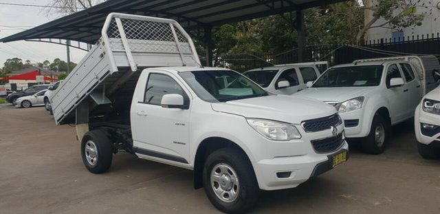 Used Holden Colorado RG MY14 LX (4x2) Bankstown, 2014 Holden Colorado RG MY14 LX (4x2) White 6 Speed Automatic Cab Chassis