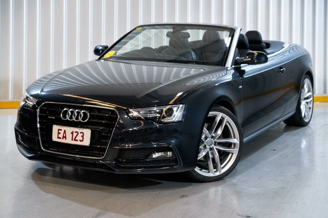 Used Audi A5 8T MY15 S Tronic Quattro Hendra, 2015 Audi A5 8T MY15 S Tronic Quattro Blue 7 Speed Sports Automatic Dual Clutch Cabriolet