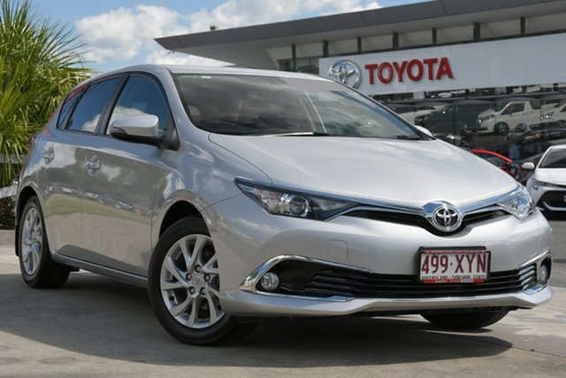 Pre-Owned Toyota Corolla ZRE182R Ascent Sport North Lakes, 2018 Toyota Corolla ZRE182R Ascent Sport Silver Pearl 6 Speed Manual Hatchback