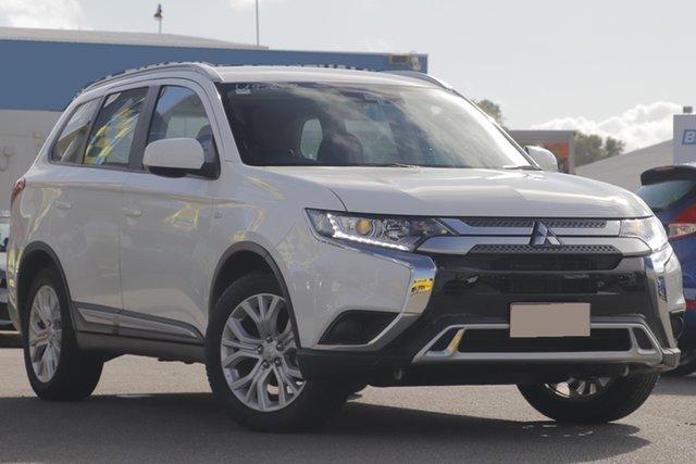 Used Mitsubishi Outlander ZL MY20 ES 2WD Rocklea, 2019 Mitsubishi Outlander ZL MY20 ES 2WD White Solid 6 Speed Constant Variable Wagon