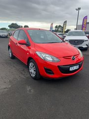 2010 Mazda 2 DE10Y1 Neo True Red 4 Speed Automatic Hatchback.