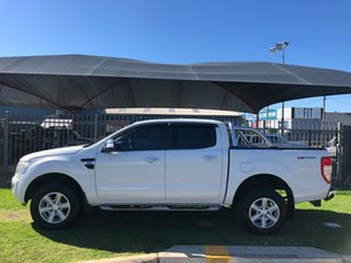 2015 Ford Ranger PX XLT 3.2 Hi-Rider (4x2) White 6 Speed Automatic Crew Cab Pickup.