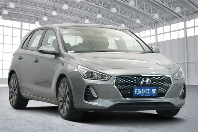 Used Hyundai i30 PD MY18 SR D-CT Victoria Park, 2017 Hyundai i30 PD MY18 SR D-CT Sparkling Metal 7 Speed Sports Automatic Dual Clutch Hatchback