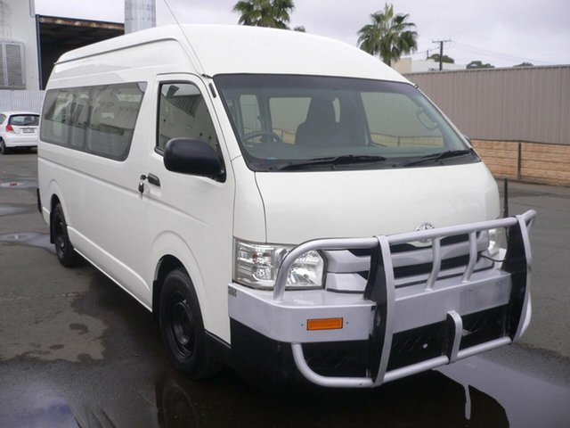 Used Toyota HiAce KDH223R Commuter High Roof Super LWB St Marys, 2016 Toyota HiAce KDH223R Commuter High Roof Super LWB White 4 Speed Automatic Bus