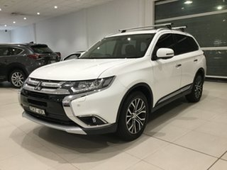 2016 Mitsubishi Outlander ZK MY16 Exceed 4WD White/gf6w 6 Speed Sports Automatic Wagon