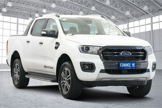 Used Ford Ranger PX MkIII 2020.25MY Wildtrak Victoria Park, 2020 Ford Ranger PX MkIII 2020.25MY Wildtrak Arctic White 6 Speed Sports Automatic
