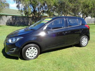 2012 Hyundai i20 PB MY12 Active Black 5 Speed Manual Hatchback.