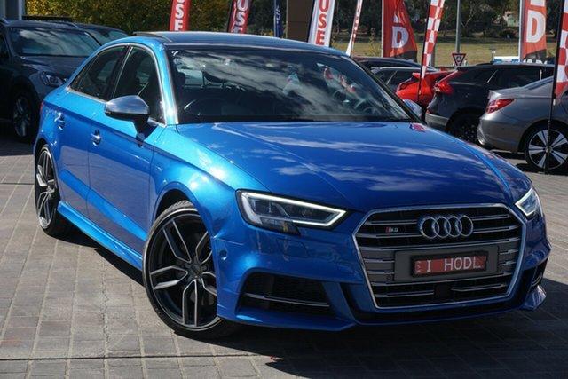 Used Audi S3 8V MY17 S Tronic Quattro Phillip, 2017 Audi S3 8V MY17 S Tronic Quattro Blue 7 Speed Sports Automatic Dual Clutch Sedan