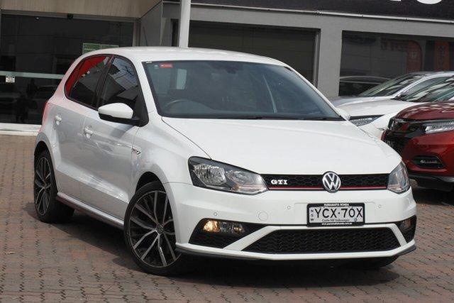 Used Volkswagen Polo 6R MY15 GTi Parramatta, 2015 Volkswagen Polo 6R MY15 GTi White 6 Speed Manual Hatchback