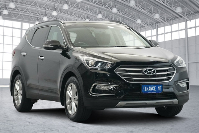 Used Hyundai Santa Fe DM3 MY16 Elite Victoria Park, 2016 Hyundai Santa Fe DM3 MY16 Elite NKA : PHANTOM BLACK Metallic 6 Speed Sports Automatic Wagon