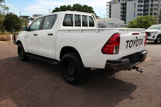2018 Toyota Hilux GUN126R SR Double Cab Glacier White 6 Speed Manual Dual Cab