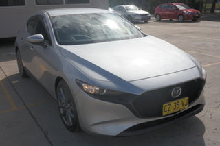 2019 Mazda 3 BP2HLA G25 SKYACTIV-Drive GT Silver 6 Speed Sports Automatic Hatchback.