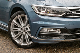 2016 Volkswagen Passat 3C (B8) MY17 206TSI DSG 4MOTION R-Line Blue 6 Speed.