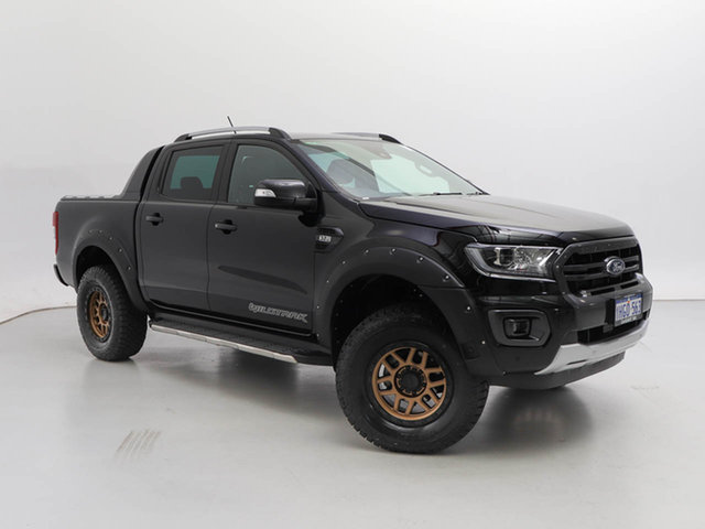 Used Ford Ranger PX MkIII MY20.25 Wildtrak 3.2 (4x4), 2020 Ford Ranger PX MkIII MY20.25 Wildtrak 3.2 (4x4) Black 6 Speed Automatic Double Cab Pick Up
