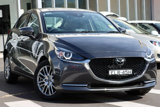 2021 Mazda 2 DJ2HAA G15 SKYACTIV-Drive GT Machine Grey 6 Speed Sports Automatic Hatchback.