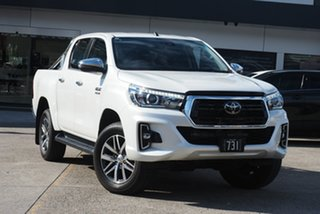 2019 Toyota Hilux GUN126R SR5 Double Cab White Pearl 6 Speed Sports Automatic Utility.