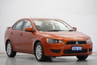 2011 Mitsubishi Lancer CJ MY11 ES Orange 5 Speed Manual Sedan