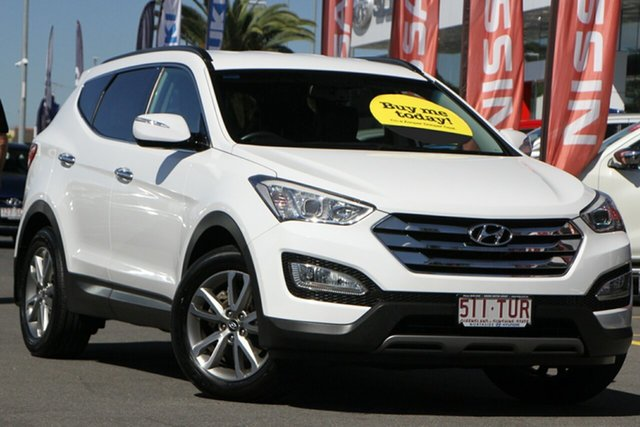 Used Hyundai Santa Fe DM MY13 Elite Aspley, 2013 Hyundai Santa Fe DM MY13 Elite White 6 Speed Sports Automatic Wagon