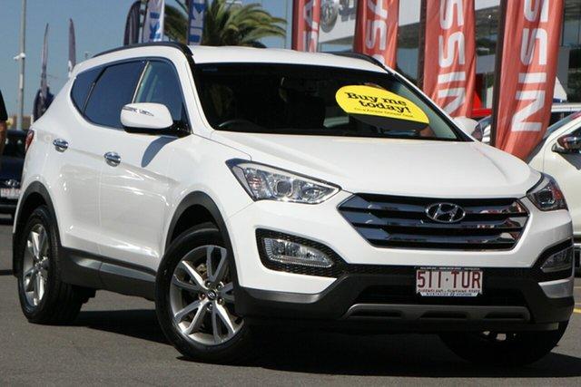 Used Hyundai Santa Fe DM MY13 Elite Aspley, 2013 Hyundai Santa Fe DM MY13 Elite White 6 Speed Sports Automatic Wagon