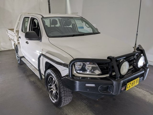 Used Volkswagen Amarok 2H MY15 TDI420 4Motion Perm Maryville, 2015 Volkswagen Amarok 2H MY15 TDI420 4Motion Perm White 8 Speed Automatic Cab Chassis