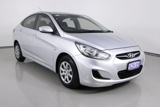 2011 Hyundai Accent RB Active Silver 4 Speed Automatic Sedan.