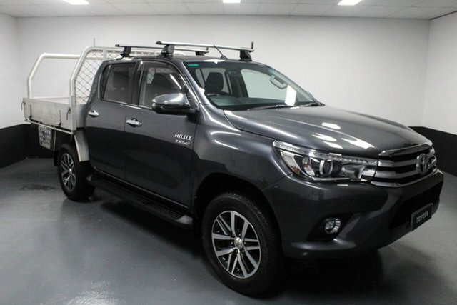 Used Toyota Hilux GUN126R SR5 Double Cab Cardiff, 2018 Toyota Hilux GUN126R SR5 Double Cab Grey 6 Speed Sports Automatic Utility