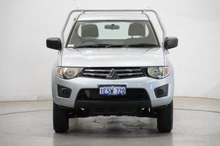 2014 Mitsubishi Triton MN MY15 GLX 4x2 White 5 Speed Manual Cab Chassis.