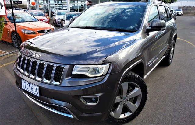 Used Jeep Grand Cherokee WK MY2014 Overland Seaford, 2013 Jeep Grand Cherokee WK MY2014 Overland Grey 8 Speed Sports Automatic Wagon