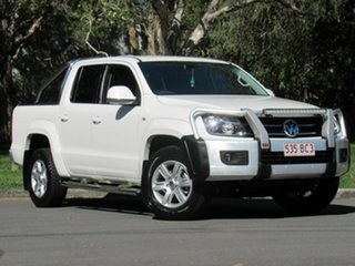 2013 Volkswagen Amarok 2H MY14 TDI420 4Motion Perm Highline White 8 Speed Automatic Utility.