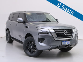 2021 Nissan Patrol Y62 Series 5 MY20 TI (4x4) Grey 7 Speed Automatic Wagon.