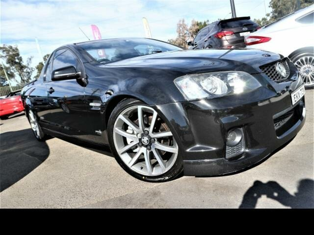 Used Holden Commodore VE II SS-V Kingswood, 2011 Holden Commodore VE II SS-V Black 6 Speed Manual Utility