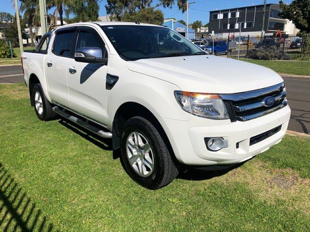 Used Ford Ranger PX XLT 3.2 Hi-Rider (4x2) Toowoomba, 2015 Ford Ranger PX XLT 3.2 Hi-Rider (4x2) White 6 Speed Automatic Crew Cab Pickup