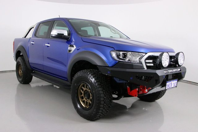 Used Ford Ranger PX MkIII MY20.75 XLT 3.2 (4x4) Bentley, 2020 Ford Ranger PX MkIII MY20.75 XLT 3.2 (4x4) Blue 6 Speed Automatic Double Cab Pick Up
